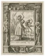 Melior est mors quam vita, Eccle. 30 [graphic] / H.B. i. [center plate] ; W.H. [center plate] ; Ab. a Diepenbecke inu. [border] ; W. Hollar fecit 1651 [border].
