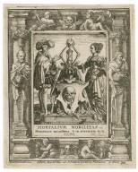Mortalium nobilitas memorare nouissima & in aeternum non peccabis, Eccle. 7 [graphic] / H.B. i. [center plate] ; W.H. [center plate] ; Ab. à Dvpenbeché inu. [border] ; W. Hollar fecit [border].