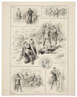 [King Henry IV, pt. 1, Haymarket Theatre, May 16, 1896, Mr. Tree as Falstaff, Mr. Waller as Hotspur] [graphic] / J. Jellicoe.