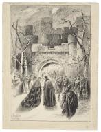 [Macbeth, act I, scene 6, Lyceum Theatre, January 19, 1889, Henry Irving as Macbeth, Ellen Terry as Lady Macbeth] [graphic] / John Jellicoe ; Herbert Railton.