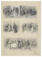[Taming of the shrew, O.U.D.S. (Oxford University Dramatic Society), March 6, 1897, four successive scenes on one page] [graphic] / J. Jellicoe.