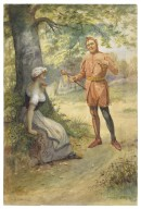 [As you like it, Touchstone and Audrey] [graphic] / G.G. Kilburne, 1899.
