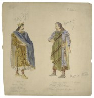 [King Lear, sixteen costume sketches] [graphic].