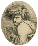 [Edgar in King Lear, drawing for the Boydell Shakespeare] [graphic] / [John Hamilton Mortimer].