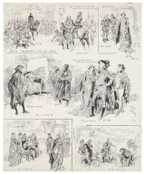 King Richard II, several scenes drawn on one mat, characters portrayed by Mr. Tree, Mr. Oscar Asche, Mr. Lionel Brough, Miss Lily Brayton, and Mr. Brandon Thomas [graphic] / [Oliver Paque].