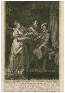 All's well that ends well, act 2, scene 3, the King, Helena, Lords, &c. [graphic] / painted by F. Wheatley R.A. ; engraved by L. Schiavonetti.