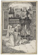"""Winter's tale, """"Implored him to have mercy on his innocent wife and child"""" [graphic] / Louis Rhead."""