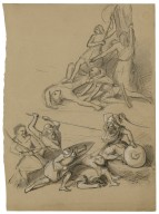 [Two battle scenes, possibly illustrating Kean's production of Macbeth] [graphic].