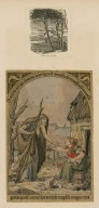 [Two drawings illustrating quotations from the witches' speech in Macbeth, act 1, scene 3, mounted with two prints illustrating scenes from the play] [graphic].