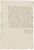 Letter from Lettice Bagot, Broughton, to Richard Bagot