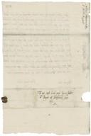 Letter from Lettice Kynnersley, Badger, to Elizabeth (Cave) Bagot