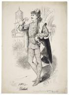 Mr. Wilson Barrett as Mercutio [graphic] / M. Stretch, April 1881.
