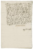 Letter from Thomas Nabbs to Walter Bagot