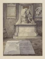 Shakespeare's statue overlooking the grave markers of Samuel Johnson, David Garrick and Eva Maria Garrick [graphic] / James Robert Thompson.