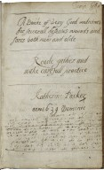 A book of very good medicines for several diseases wound and sores both new and old [manuscript], 1639.