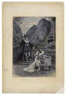 Olivia's garden. Malvolio-- Mr. Tree, Olivia-- Miss Maud Jeffries [in Shakespeare's Twelfth night, III, 4] [graphic] / [Frederick Henry Townsend].
