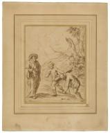The tempest, III, 1, Caliban and Prospero [graphic] / [John Vanderbank].