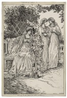 Much ado about nothing. But are you sure that Benedict loves Beatrice so entirely? [graphic] / Louis Rhead.