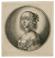 [Woman with curly hair drawn back] [graphic] / Hollar fec. 1642.