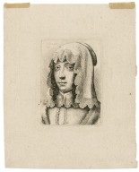 [Woman wearing a lace-edged cloth on her head] [graphic] / W. Hollar fecit 1648.