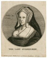 The lady Guldeforde [graphic] / H. Holbein, pinxit ; W. Hollar, fecit, ex collectione Arundeliana, ao. 1647.