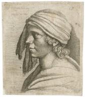 [Man with a scarf tied around his head] [graphic] / C. Screta Boh. inu., 1627 ; W. Hollar fe., 1635.