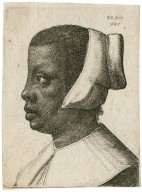 [Head of a Black woman in profile to left] [graphic] / W.H. fecit, 1645.