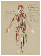 Wardrobe sketch with notes. Banquo's ghost