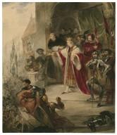 King John, V, 7, King John on his way to the church [graphic].