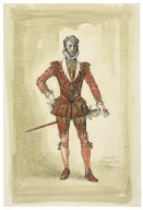Costume design for Macbeth (Bernard Miles)