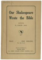 Our Shakespeare wrote the Bible ...