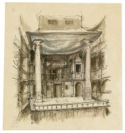An Elizabethan stage (conjectural)