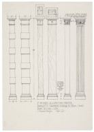 St. Georges Theatre, design for characteristic dressings for pillars