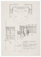 St. Georges Theatre, design for background screen and platform over exit lobby
