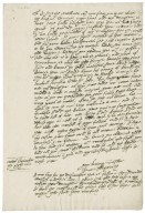Letter from Jane (Roberts) Markham, Lady Skipwith, to Walter Bagot, Cotes (Cootes), Leicestershire