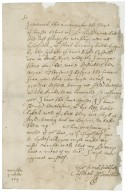 Letter from Francis Trentham, Rocester, to Walter Bagot