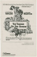 Columbia Pictures presents Elizabeth Taylor, Richard Burton in the Burton-Zeffirelli production of The taming of the shrew...
