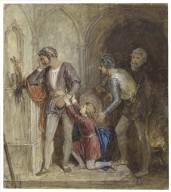 Prince Arthur pleading with Hubert, King John, act IV, sc. 1 [graphic] / [John Wright].