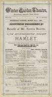 Cast List from program Edwin's 100th performance Hamlet