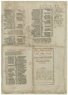 An almanach [sic] for the yere M.D.LXII. made by maister Michael Nostradamus Doctour in Phisicke, of Salon of Craux in Prouance.