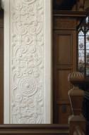 Plaster strapwork in the Old Reading Room
