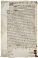[Miscellaneous Public Documents.] Noverint universi per presentes nos [manuscript] printed not after 1677.