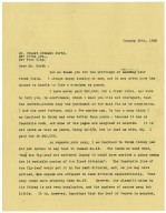Typed letter from H.C. Folger, New York, to Ernest Dressel North, 10 January 1928