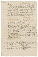 Testimony of Roger and Henry Carew, in the Thomas Hubbard piracy case, overseen by Nathaniel Bacon and Ralph Shelton