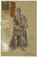 Costume design for Antony in Scassallati's production of Julius Caesar Act 4 Scene 1