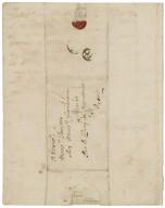 Letter from Sir John Vanbrugh, Whitehall, to Jacob Tonson I, Paris : autograph manuscript