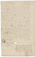 Receipt to Dame Mary Rich from the borough of Thetford