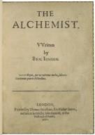 The alchemist. VVritten by Ben. Ionson.