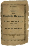 [King Henry IV. Part 1] King Henry IV. Part I : a tragedy / by William Shakspeare.
