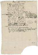 Great Britain. Office of the revels. the 7 of Iune Anno 1559. A Estymate of the detts oweng in the offysys of the Revylls and Tentes...